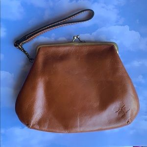 PATRICIA NASH Brown Leather Clutch Bag